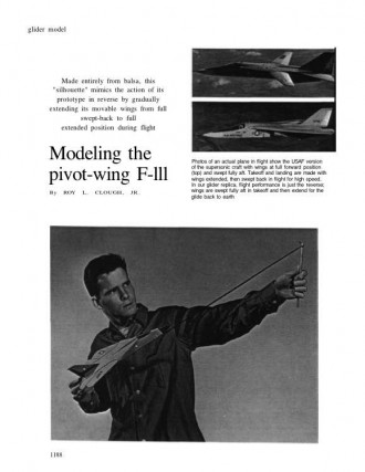 F-111 Slingshot Glider model airplane plan