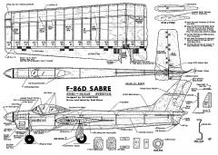 F-86D-Stunt CL model airplane plan