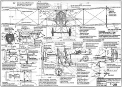 F2B Brisfit model airplane plan