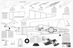 F4U-1A Corsair model airplane plan