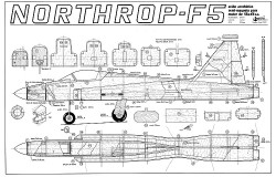 Northrop F5 model airplane plan