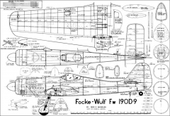 FW 190D9 model airplane plan