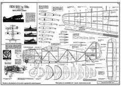 FW-190 A3 model airplane plan