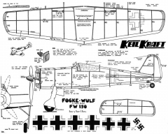 FW-190 KK model airplane plan