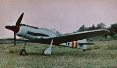 FW 190 D-9 model airplane plan