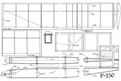F 150 model airplane plan