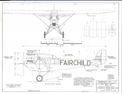 Fairchild FC-1 model airplane plan