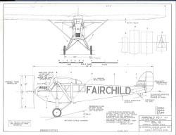 Fairchild FC-1 model airplane plan