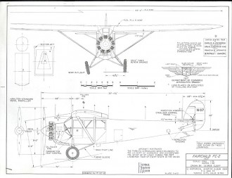 Fairchild FC-2 model airplane plan