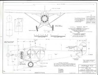 Fairchild FC-2 model airplane plan