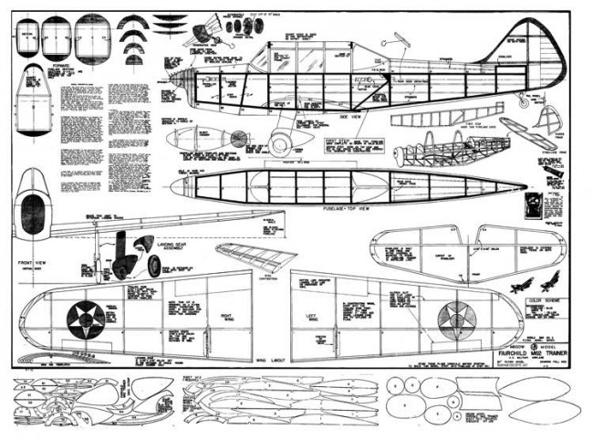 Fairchild M-62 model airplane plan