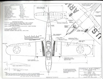 Fairchild M-62 Cornell model airplane plan
