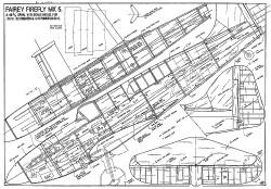 Fairey Firefly Mk V model airplane plan