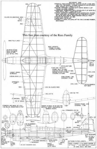 Fairey Fulmar model airplane plan