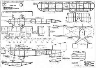 Fairey N10 18in rubber model airplane plan