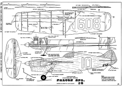 Falcon Spl 10-AAM-10-68 model airplane plan