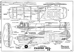 Falcon Spl 10-AAM-10-68 model airplane plan