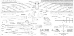 RRG Falke model airplane plan