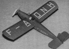 Farman F-450 model airplane plan