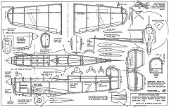 Farman Renault F380 model airplane plan