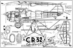 Fiat CR.32 model airplane plan