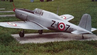 Fiat G-46-3A model airplane plan