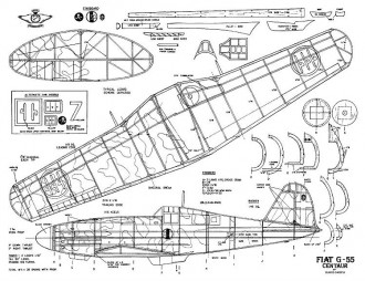FIAT G 55 CENTAURO model airplane plan