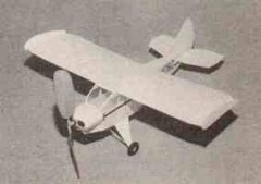Fike Model E model airplane plan