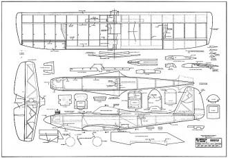 Firefly RCM-334 model airplane plan