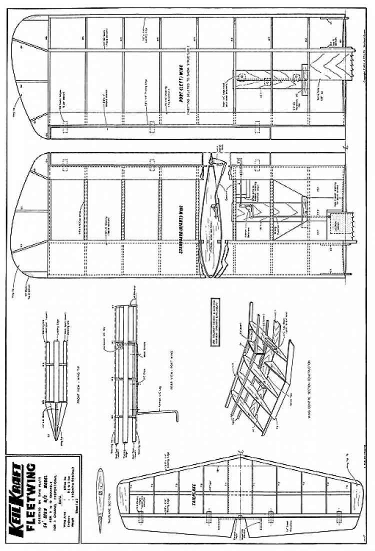 Fleetwing model airplane plan