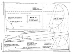 Flip 18 model airplane plan