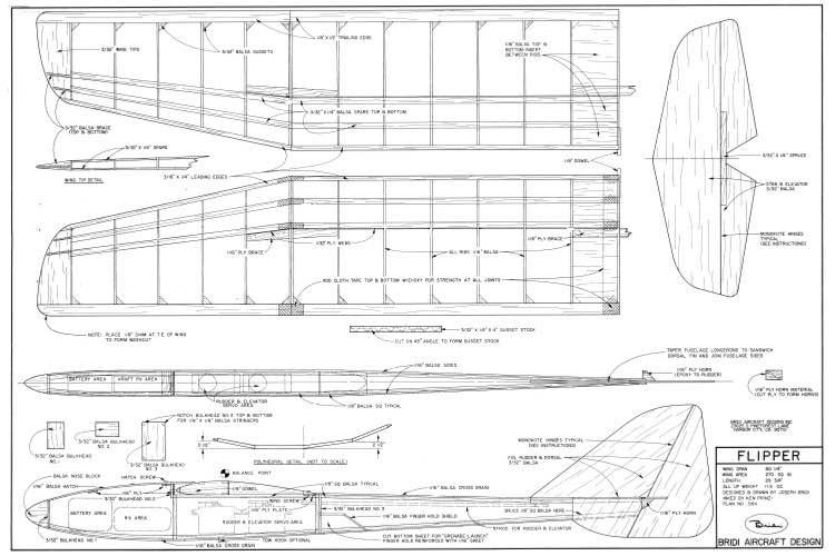 Flipper Bridi HLG model airplane plan