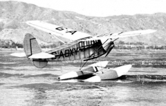Floats Puss Moth model airplane plan