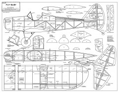Fly Baby GE Whitehead model airplane plan