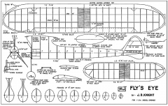 Flys Eye model airplane plan