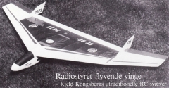 Flyvende Vinge model airplane plan