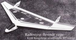 Flyvende Vinge model airplane plan
