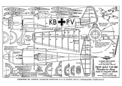 Focke-Wulf FW190 model airplane plan