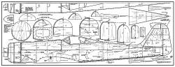 Focke-Wulf Fw190D model airplane plan