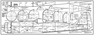 Focke-Wulf Fw190D model airplane plan