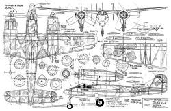 Focke-Wulf Ta-154 Moskito model airplane plan