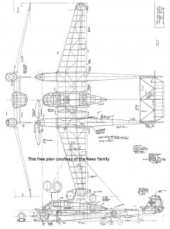 Focke-Wulf fw 189a-1 model airplane plan