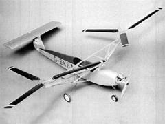 Focke Achgelis FA-61 model airplane plan