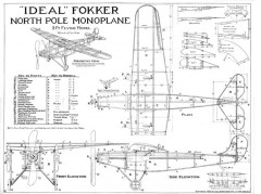 Fokker model airplane plan