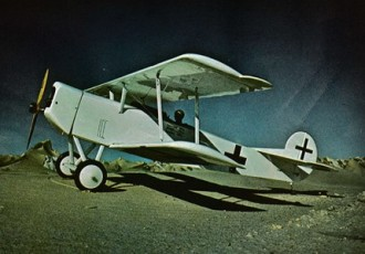 Fokker D-VII model airplane plan