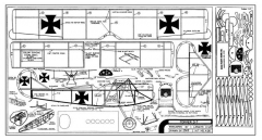 Fokker D7 model airplane plan