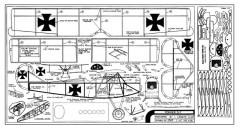 Fokker D7 model airplane plan