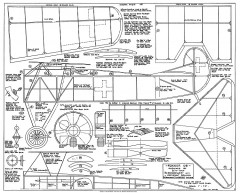 Fokker D8 model airplane plan
