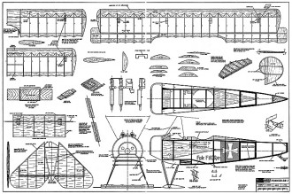 Fokker DR-1 40in RCM-220 model airplane plan