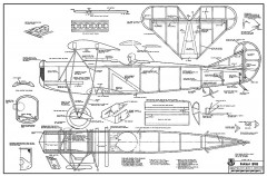 Fokker DVII RCM368 model airplane plan